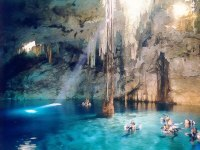 Cenote in Xcaret Eco-park Image courtesy: www.bodaclick.com.mx and Google Images