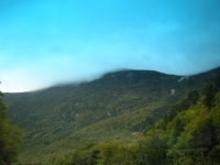Cloud on the Mountain, and the Bluest Sky I Ever Saw
