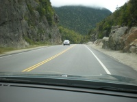Entering Crawford Notch from the north