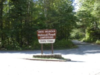 Entrance to Dolly Copp Campground